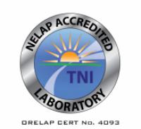 ORELAP emblem NELAP accredited laboratory accreditation certificate TNI Standard