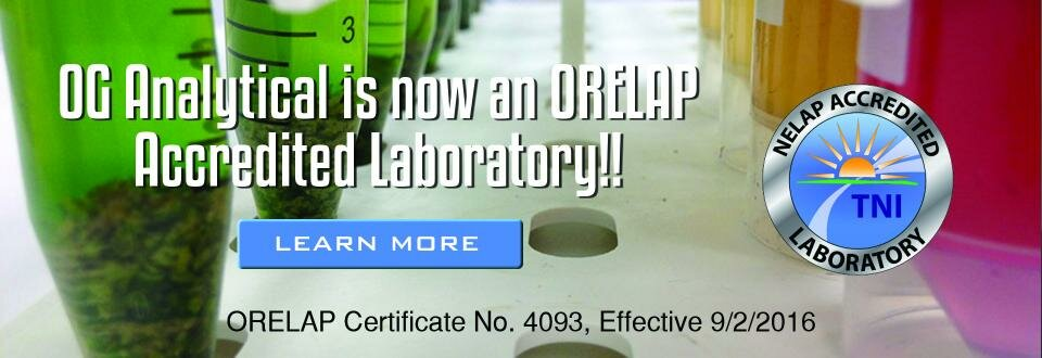 OG Analytical is now an ORELAP Accredited Laboratory!